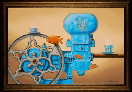 Linda Ridd Herzog, 'Little Blue Steam Engines', 2018