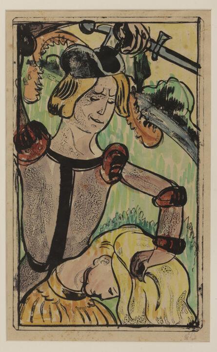 Émile Bernard, 'He takes her by her long beautiful hair', 1891-1892
