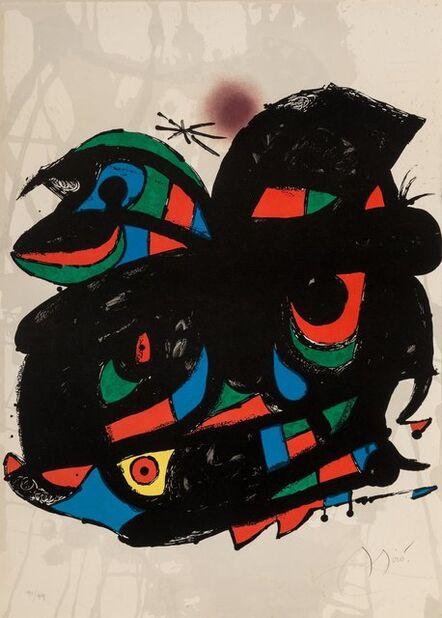 Joan Miró, 'Poster for the Inauguracio Fundació Joan Miró', 1976