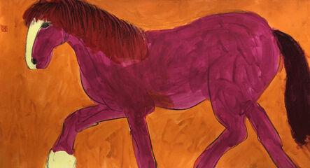 Walasse Ting 丁雄泉, 'Pink Horse', 1990