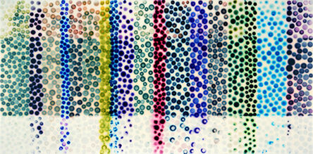 Jaq Chartier, 'Large Chart w/ 19 Stains', 2015