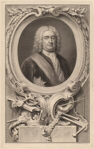 Jacobus Houbraken after Arthur Pond, 'Robert Walpole, 1st Earl of Orford', 1746