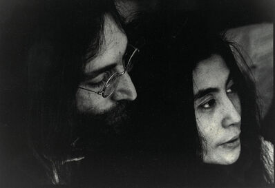 Luiz Garrido, 'John Lennon and Yoko Ono in an intimate moment at Apple Records' office in Savile Row, London', 1969