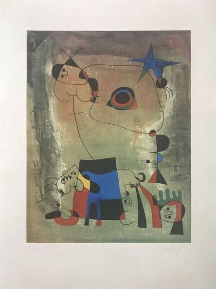 Joan Miró, 'Blue dog ', 1959