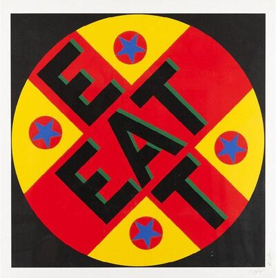 Robert Indiana, 'The American Dream No. 2 - Eat', 1982