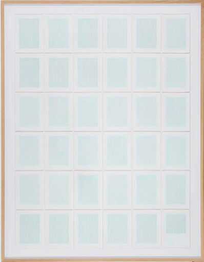 João Onofre, 'Universal Declaration of Human Rights and an Image of Beauty Converted into Binary Code (C version)', 2014