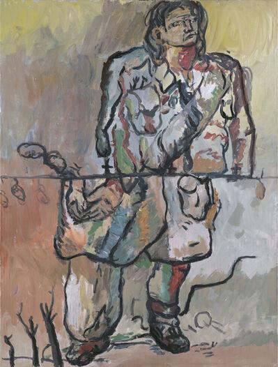 Georg Baselitz, 'Erstes Frakturbild - der neue Typ (Maler in Mantel)', 1966