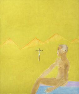 Craigie Aitchison, 'Boy Seated and Crucifixion', 1984