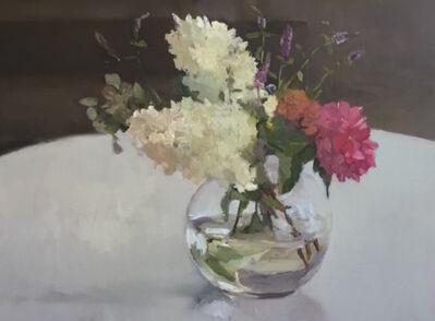 Maryann Lucas, 'Hydrangeas in Round Glass', 2016