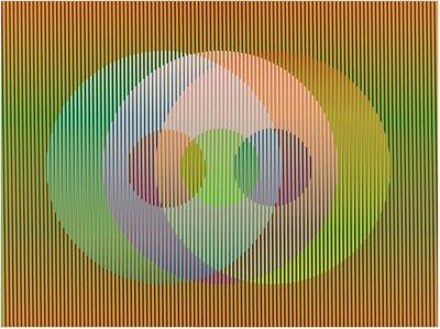 Carlos Cruz-Diez, 'Color Aditivo Panam Círculos 6', 2010