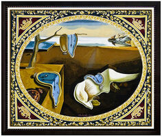 Salvador Dalí, 'SALVADOR DALI Original Woven Tapestry Signed Persistence Of Memory Melting Clock', 1975