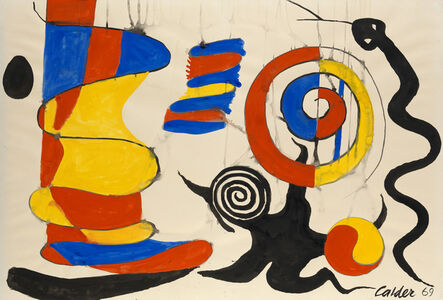 Alexander Calder, 'The Yellow Shock Absorber', 1969