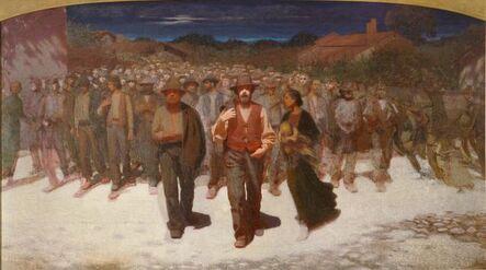 Giuseppe Pellizza da Volpedo, 'Fiumana (The Human Tide)', 1895-1896