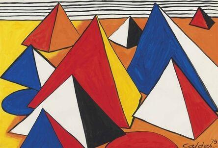 Alexander Calder, 'Le pyramide orange', 1975