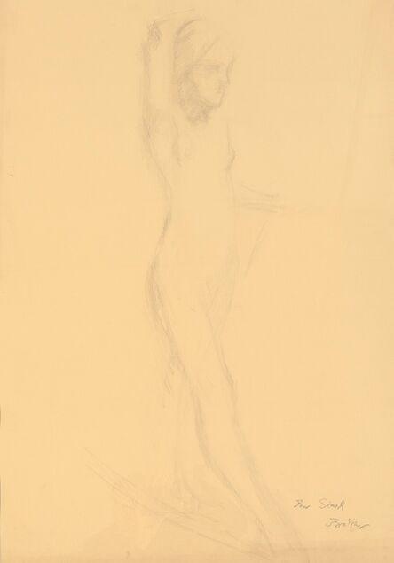 """Balthus, 'Etude pour """"Nu au foulard""""', 1975"""