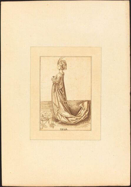 Katharina Prestel after Martin Schongauer, 'Oriental Lady', 1780