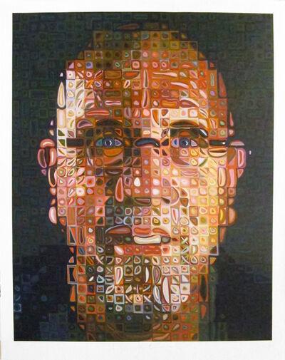 Chuck Close, 'Self Portrait Screenprint', 2012