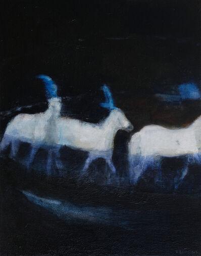 Katrine Claassens, 'Blue Circus Horses From Gif', 2019