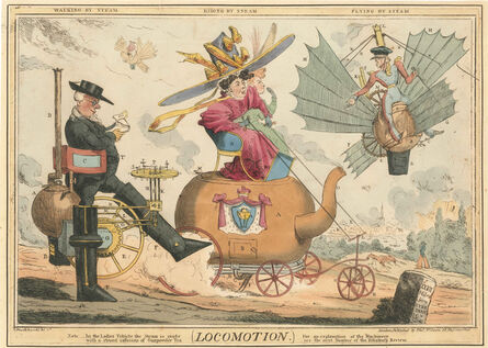 ROBERT SEYMOUR, 'Locomotion  and  Locomotion Plate 2nd', ca. 1827