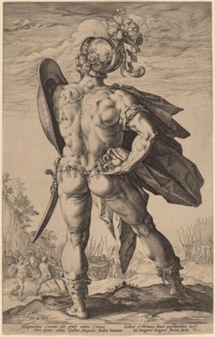 Hendrik Goltzius, 'Marcus Valerius Corvus', probably 1586