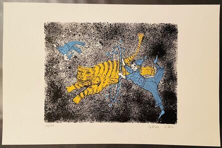 Gloria Starr, 'Acrobat and tigers', 1970