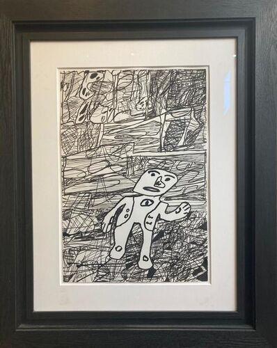 Jean Dubuffet, 'Paysage avec un personnage', 28 august 1980