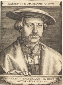 Barthel Beham, 'Erasmus Balderman', 1535