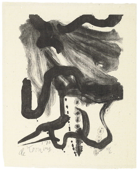 Willem de Kooning, 'Woman with Corset and Long Hair', 1971