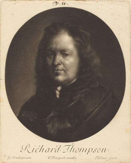 Francis Place after Gerard Soest, 'Richard Tompson', ca. 1680