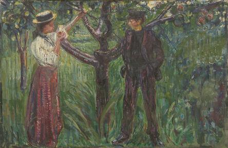 Edvard Munch, 'Adam and Eve', 1909