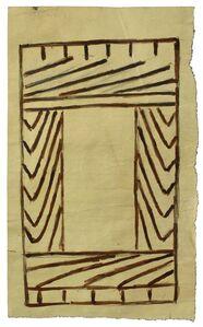 Martín Ramírez, 'Untitled (Frame)', 1960