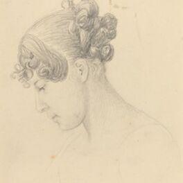 John Flaxman, 'Head of a Woman Looking Down (Theresa Turner?)'