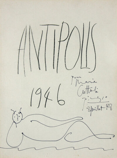 Pablo Picasso, 'Faune Couché Allongé', 1946