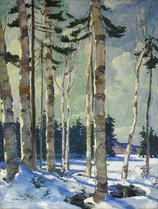 Jonas Lie, 'Winter Birches'