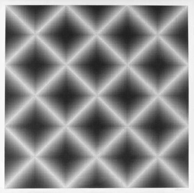 Getulio Alviani, 'Testura Grafica inclinazione ortogonale ', 1972