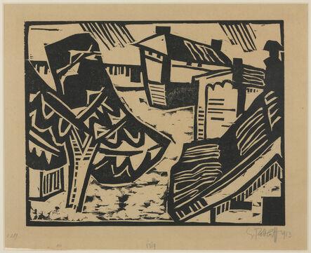 Karl Schmidt-Rottluff, 'Motiv aus Lötzen.', 1913