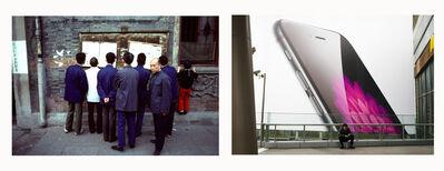 Stephen Verona, '(Left) Public Posting of News, (Right) Cell Phone Billboard', 1980-2014