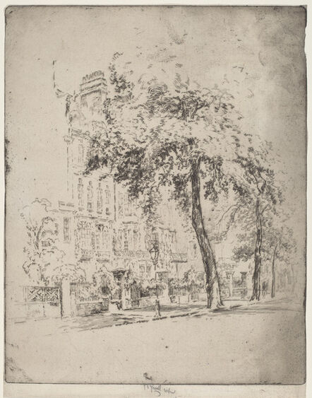 Joseph Pennell, 'Big Tree, Cheyne Walk', 1906
