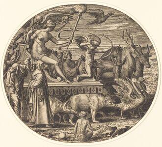 Léon Davent after Luca Penni, 'Lust', ca. 1547