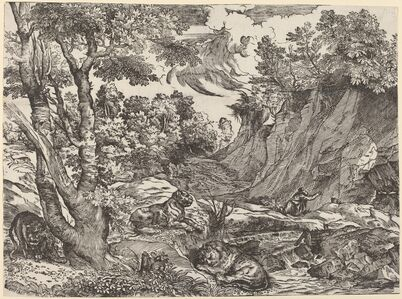 Niccolò Boldrini after Titian, 'Saint Jerome in the Wilderness', ca. 1530/1535