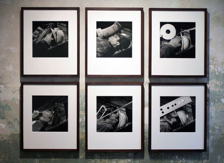 Brian Griffin, 'WORKERS - (Set of 9 iconic Photographs): Lift Engineer, Sewage Pipe layer, Plumber, Welder, Plasterer, Riveter, Carpenter, Cleaner and Cladding Engineer.', 1986