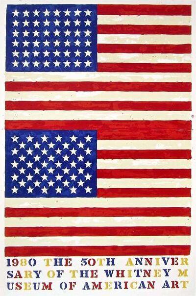 Jasper Johns, 'Double Flag, 1980 Whitney Museum of American Art Exhibition Poster', 1979-1980