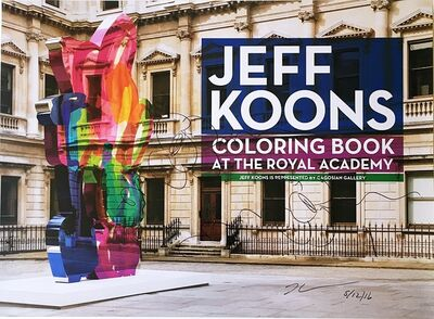 Jeff Koons, 'Original Flowers drawing (hand signed), on Royal Academy poster of Coloring Book At The Royal Academy ', 2011-2016