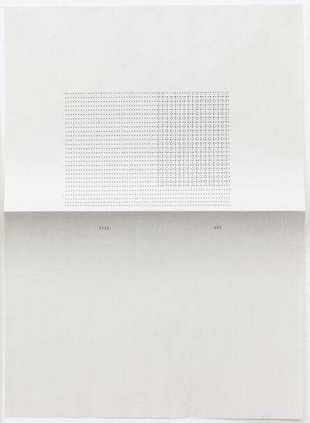 Sue Tompkins, 'Untitled (Text reads: Ever Est)', 2012