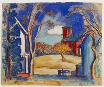 Oscar Bluemner, 'Schoolhouse, Conger NY', 1867-1938