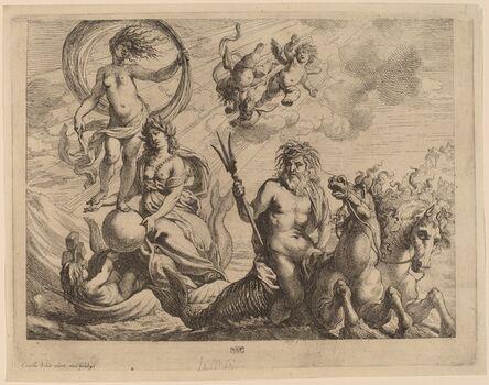 Cornelis Schut I, 'Neptune with Two Horses on the Sea'