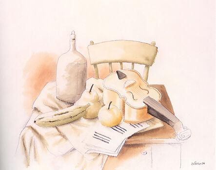 Fernando Botero, 'Natura morta con Violino', 2006