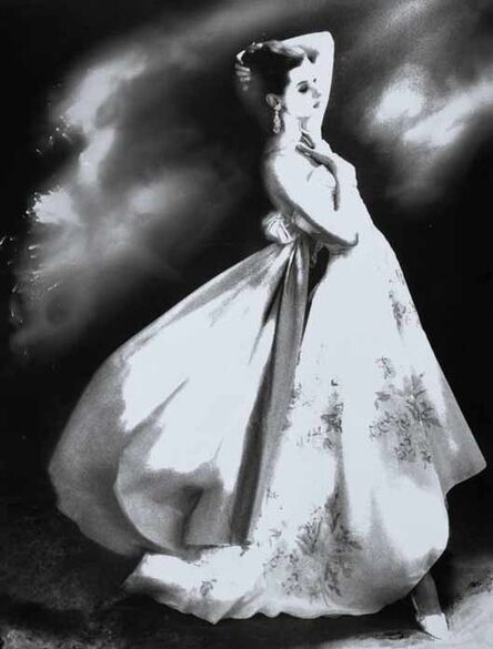 Lillian Bassman, 'Silk Organdie, Embroidered and Printed, Barbara Mullen in a gown by Irene, New York, Harper's Bazaar, January 1956', 1956