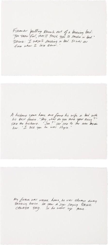 Richard Prince, 'The Greeting Card Jokes (complete set of 3)', 2011