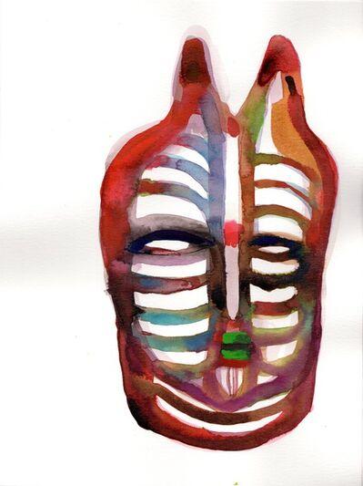 Wole Lagunju, 'Mood mask I', 2017
